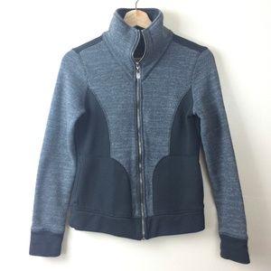 Prana Gray & Black Full Zip Up Sweater Size Small